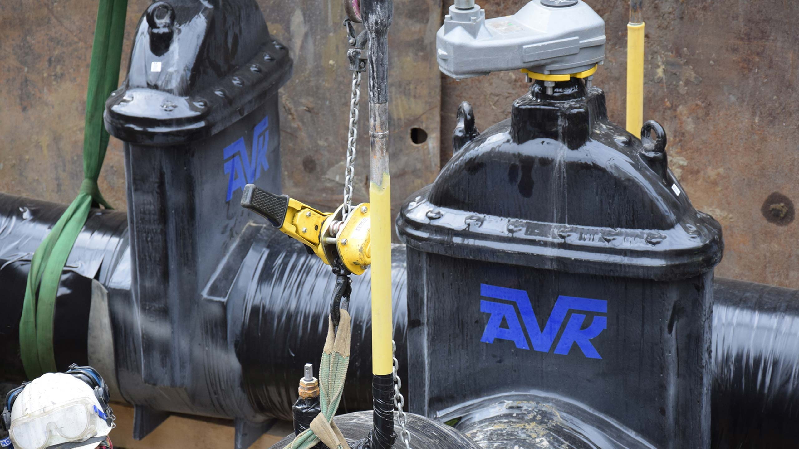 AVK-gasafsluiters DN 500 voor nieuwe gasleiding in kader van verbreding Albertkanaal