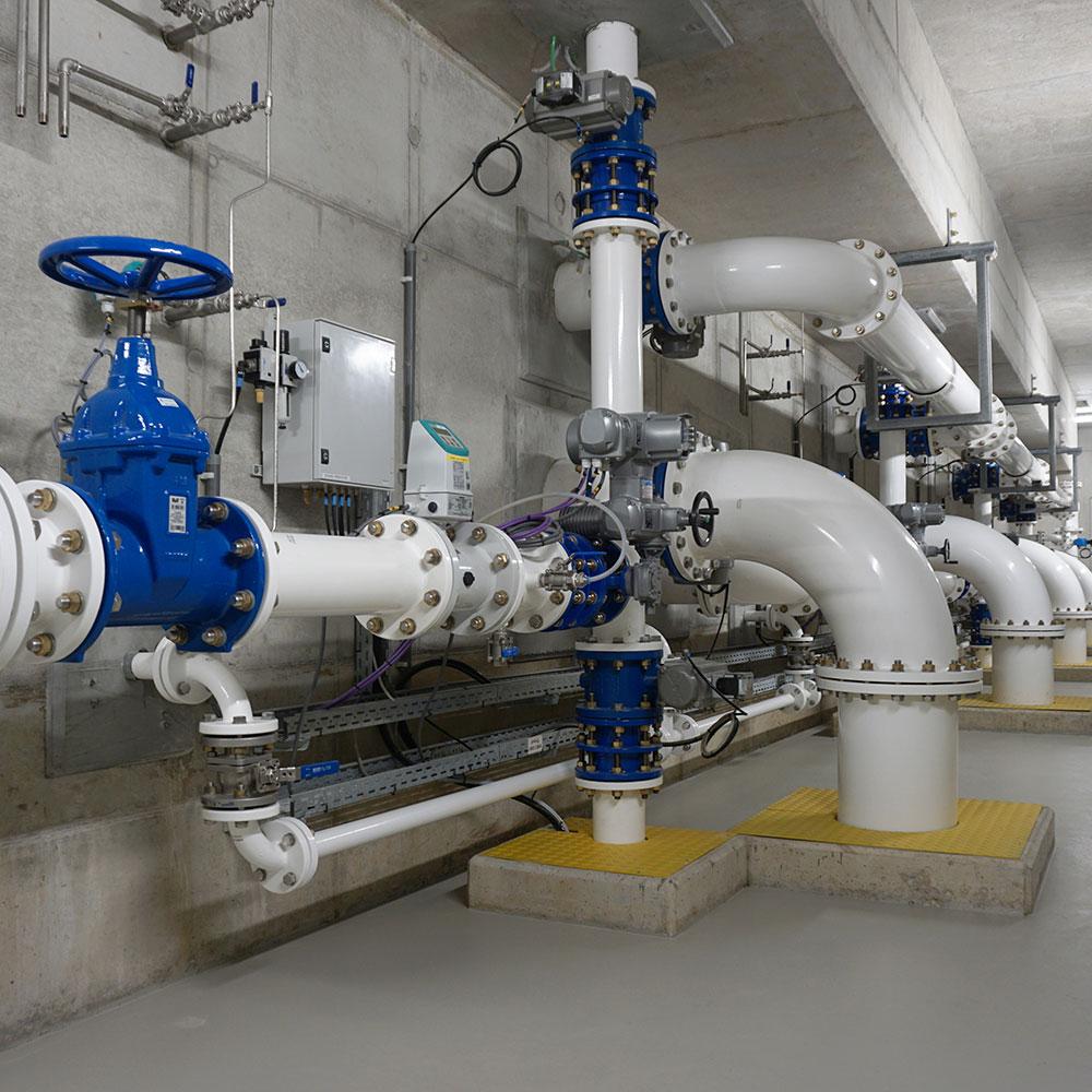 Actieve koolfilters voor waterproductiecentrum Eeklo