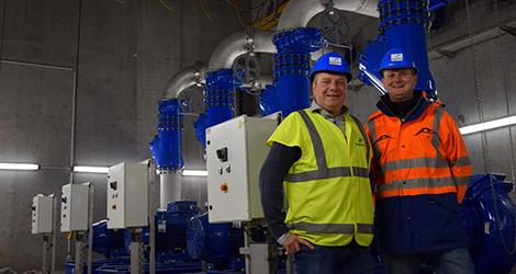 Maarten Schueremans en Darnick Van Praet projectleiders Aquafin