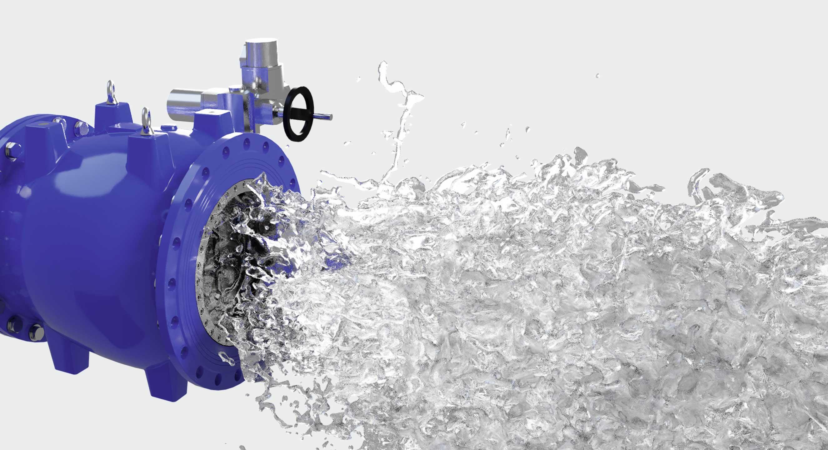 naaldafsluiter optimale waterdoorstroming