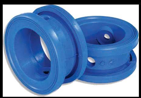 Blauwe voering rubber InterApp AVK Vlinderklep industriële toepassingen