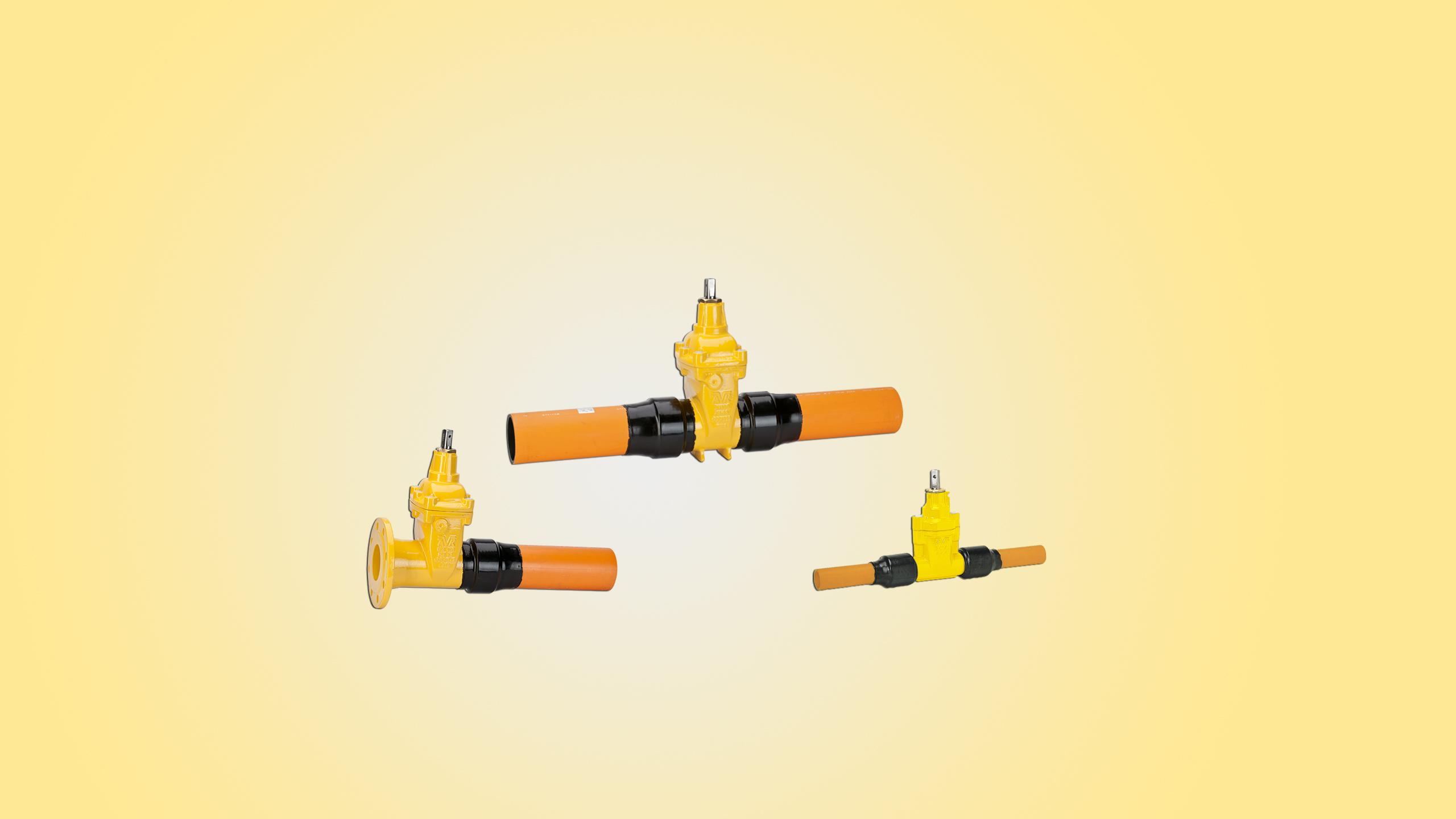 Schuifafsluiter, gas, PE100-RC, onbreekbaar