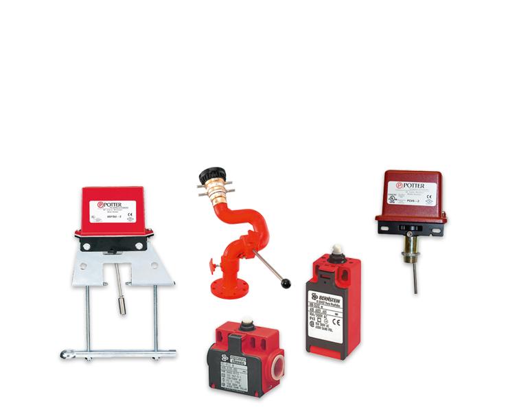 Toebehoren voor brandbestrijding, limit switches of micro switches