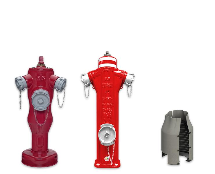 Bovengrondse hydranten met breekbeveiliging
