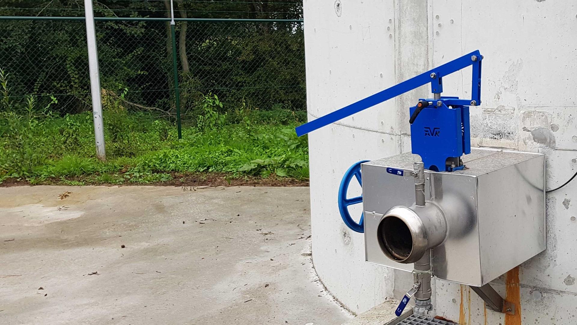 afvalwater uitstroom actief slib