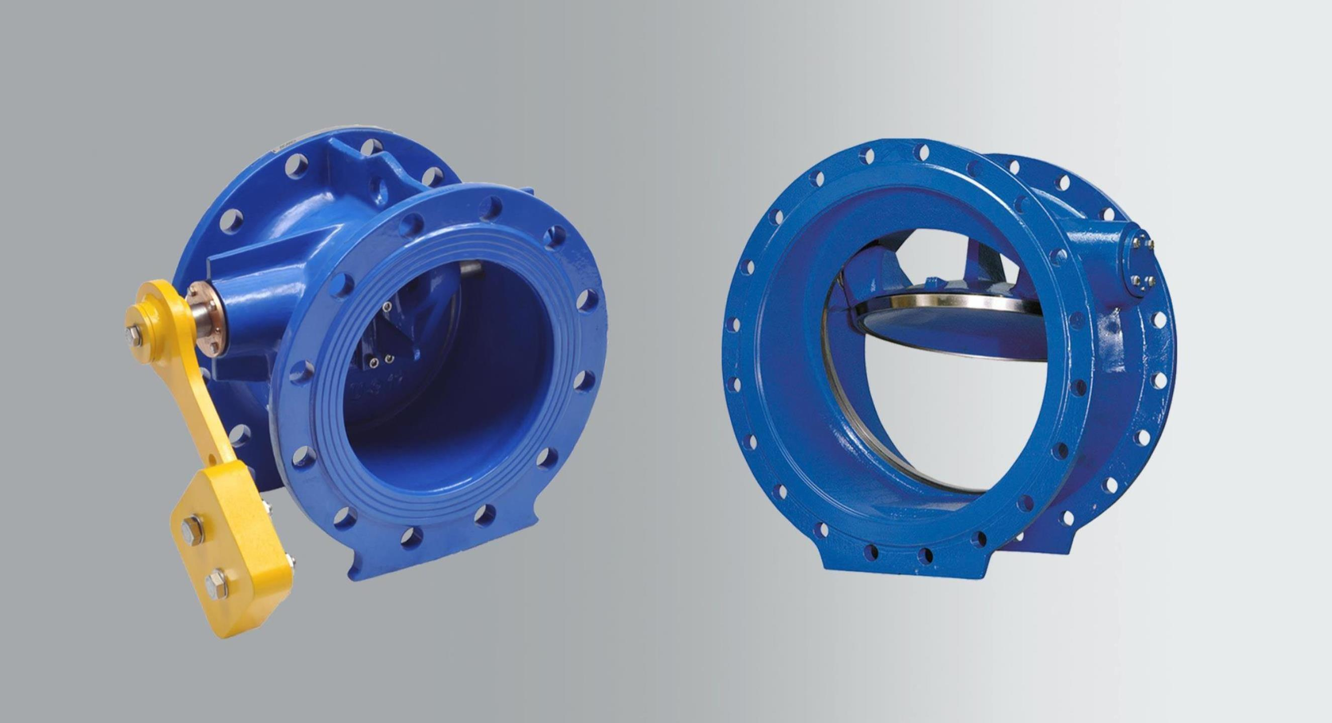 Terugslagkleppen met hydraulische demper, zachte of roestvaststalen dichting